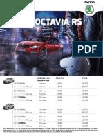 New Octavia Rs Price List 2015