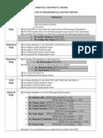Deficiencies in Monthly Report