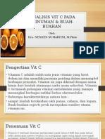 Analisis Vit c Pada Minuman & Buah-buahan