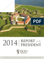 NARA Information Security Oversight Office Releases FY 2014 Annual Report to the President