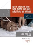 Citizen Report Card Survey on Free Education Services in Vavuniya and Mullative Educaional Zones - Sinhala