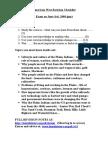2008 Revision Checklist - Edexcel American West