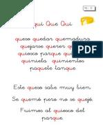 Metodo de Lectoescritura Letra Que Qui