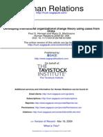 Developing International Organizational Change Theory Using Cases From China