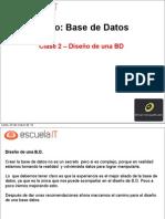 Curso BBDD Clase 2 - Diseño bd