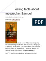 11 Interesting Facts About the Prophet Samuel