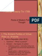 Poltical Theory to 1789