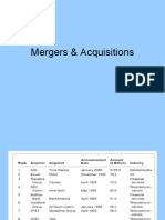 Mergers & Acquisitions Lec 1 27th Jan