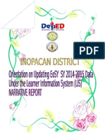 LIS Updating Orientation