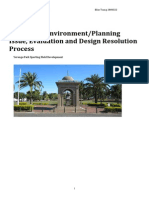analysis of environment planning issue, evaluation and design resolution process