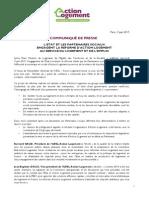 L'ETAT ET LES PARTENAIRES SOCIAUX ENGAGENT LA REFORME D'ACTION LOGEMENT AU SERVICE DU LOGEMENT ET DE L'EMPLOI