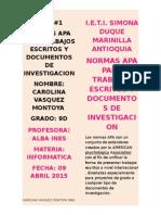 Carolina Vasquez Montoya 9%d