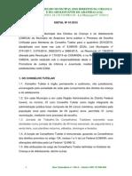 Edital Conselho Tutelar Arapiraca Al 2015