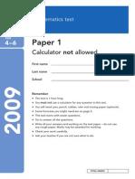 ks3-maths-sat-paper-2009 4 to 6 paper1