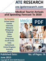 Singapore Medical Tourist Arrivals and Spending Forecast to 2020