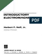 [LIVRO] Introductory Electromagnetics (1991) (Herbert P. Neff, Jr)