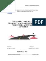 Utilizarea Cauciucului Granulat Si a Plastomerului La Producerea Mixturilor Asfaltice _1