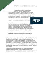 Estudio Teórico y de Aplicación de Un Lenguaje Documental