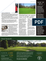 Westerham Golf Club in Golf News May 2015