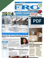 Baltimore Afro-American Newspaper, February 13, 2010