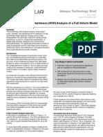 Auto Noise Vibration Harshness Analysis Full Vehicle 07