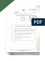 Chemistry Unit 2 Paper 2 2011