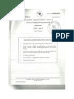 Chemistry Unit 2 Paper 2 2010