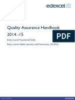 Quality Assurance Handbook Entry Level FS and ALAN 2014–15
