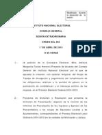 Orden Del Dia 01 de Abril de 2015 - Sesion Extraordinaria 1