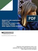 Rapporto sulla popolazione sinta e rom presente nei campi e nelle aree sosta, transito della regione Emilia-Romagna