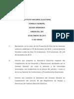 Orden Del Dia 28 de Enero de 2015 - Sesion Ordinaria 1