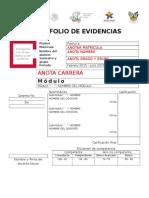 Portada Portafolio Evidencias CECyTEH 2015