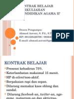 Kontrak Belajar PAI II