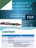 Design Analysis & Optimization of Formula-1 Vehicle_8th Sem_mse