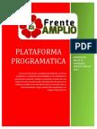 Propuesta Plataforma Programática Frente Amplio hacia Congreso 2015