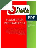 Propuesta Plataforma Programatica FA Hacia Congreso 2015 Para Difusión
