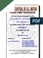 Speed Control of Dc Motor-pwm