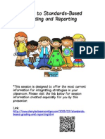 Moving to Standards Based Grading and Reporting