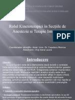 Rolul Kinetoreapiei in Sectiile de Anestezie Si Terapie Intensiva