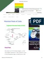 Mountain Peaks of India Iasmania