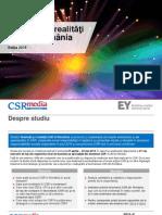 Studiu - Tendinte si Realitati CSR in Romania 2015