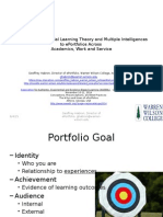 Applying Experiential Learning Theory and Multiple Intelligences to ePortfolios Across Academics, Work and Service
