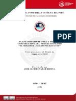 2006 Planeamiento de Obra y Proceso Constructivo del Proyecto Piloto (El mirador - Nuevo Pachacutec).pdf