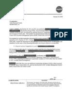 NASA Office of Inspector General Document on CryptoLocker