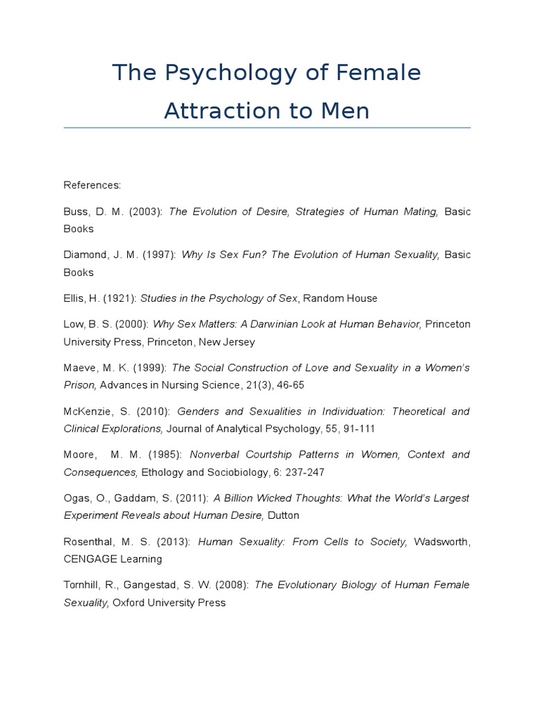 The Psychology of Female Attraction to Men | Physical