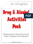Drug and Alcohol Activities