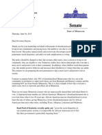 Letter of Support for Restore The Vote