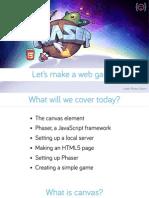 Phaser for HTML5