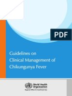Guidelines Clinical Management Chikungunya WHO