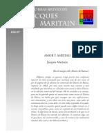 Jacques Maritain Amor y Amistad